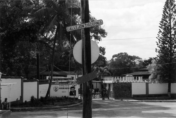 Information on the Cuban refugee detention camp of Tiscornia – where the Günzburgers and hundreds of other Jewish refugees were held for months behind gates – was hard to find.  As of 2004, the street sign on Callejón Tiscornia provided the only indication of where the camp stood. The site had become the home of Cuba's Instituto Superior de Medicina Militar, where armed guards barred entry.
