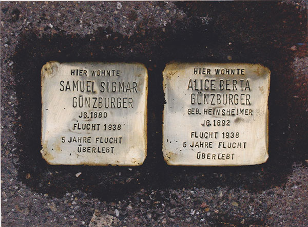 As part of a project that has already memorialized more than 30,000 victims of Nazism throughout Europe, in 2005 the artist Gunter Demnig imbedded these two Stolpersteine or